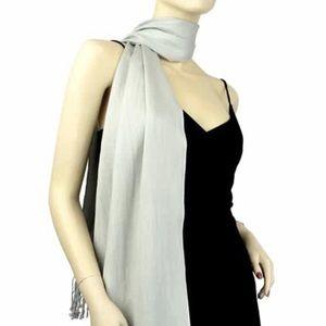 Silver/ Grey Pashmina scarf/ wrap